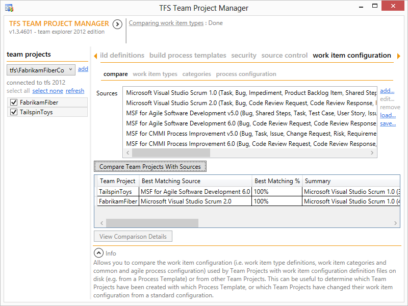tfs team project manager visual studio marketplace